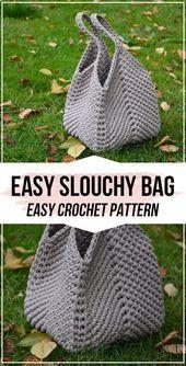 Photo of Häkelanleitung Easy Slouchy Bag – einfache Häkelanleitung für Anfänger …
