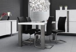 Eetkamer Wit Hoogglans : Eettafel hoogglans wit rvs poten home decor pinterest