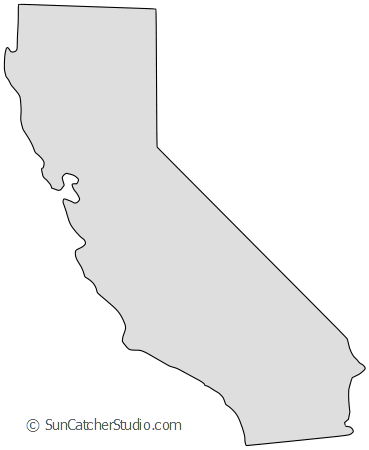 graphic about California Outline Printable identified as California - Map Determine, Printable Nation, Condition, Stencil