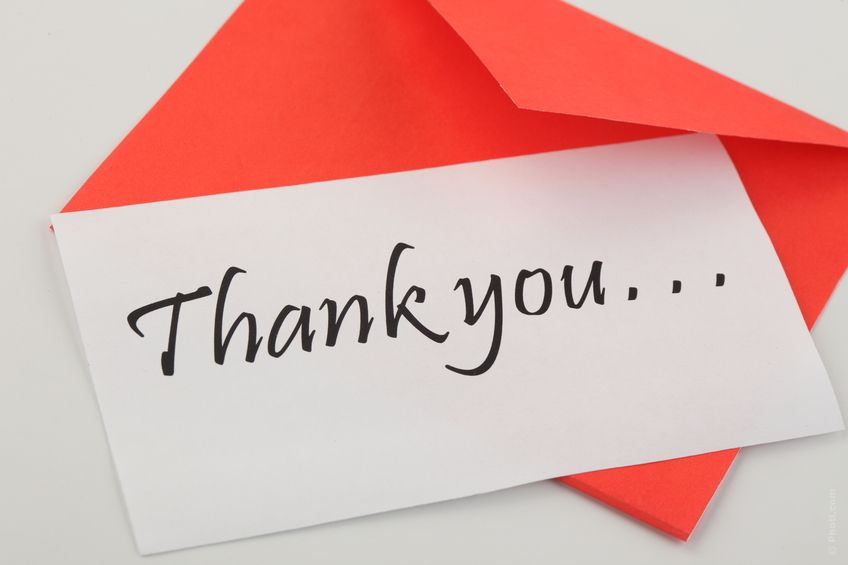 Did you receive a gift during the holidays? Show your gratitude - thank you note