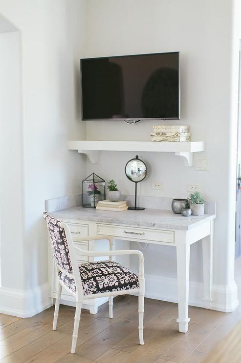 Corner Kitchen Desk Under Tv Transitional Kitchen Home Tv In Bedroom Built In Desk