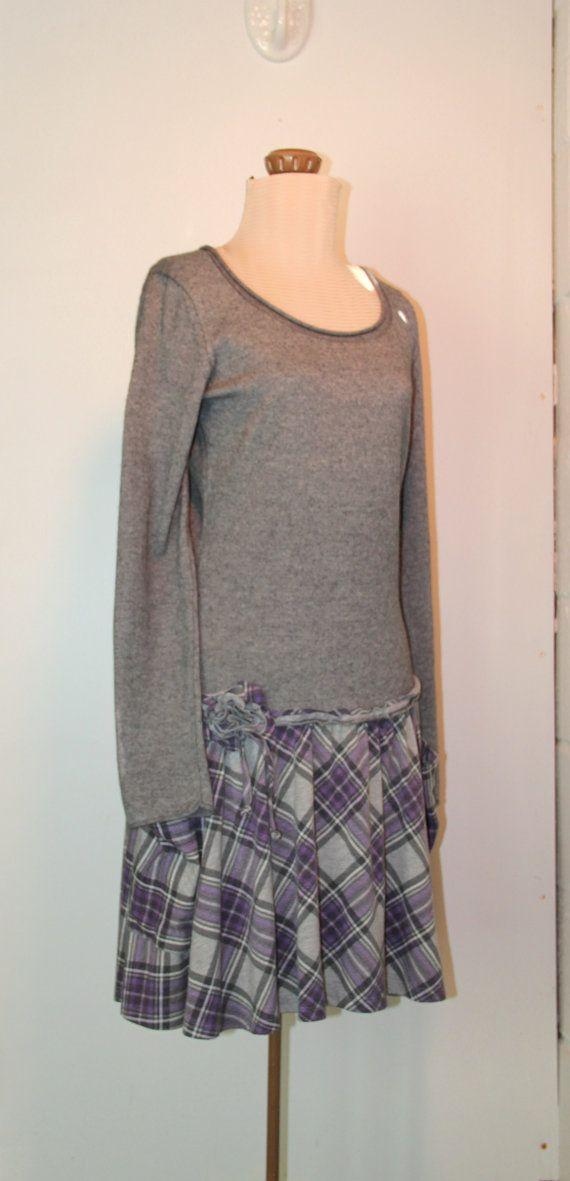 Refashioned dress tattered Eco clothing by herndonbetsy on Etsy