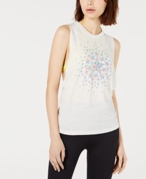 79f328de9cb60 Free People Movement No Sweat Graphic Tank Top - White XS | Products ...