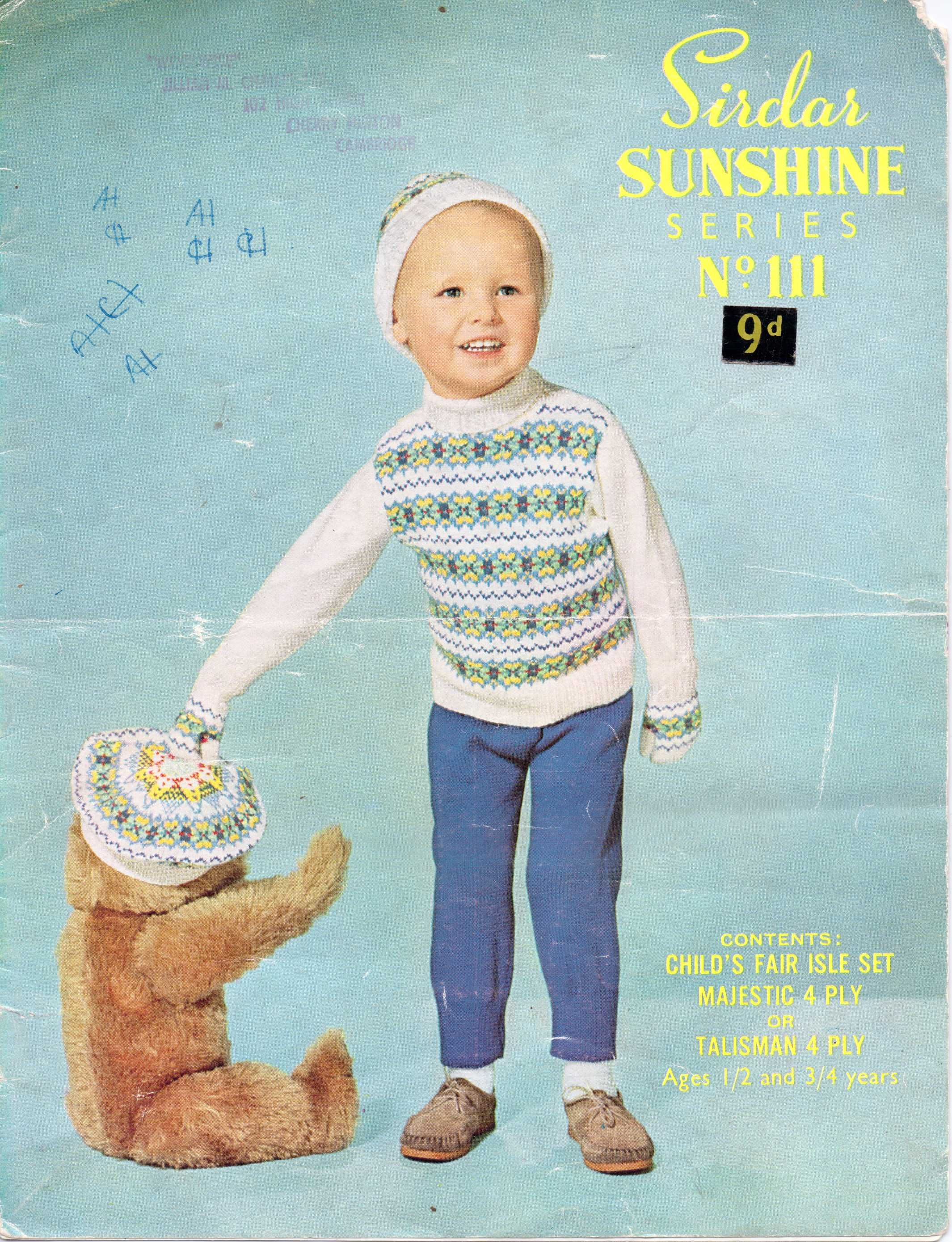 Free patterns fair isle and colourwork 3 childrens patterns childs fair isle jumper and hat free vintage knitting patterns bankloansurffo Gallery