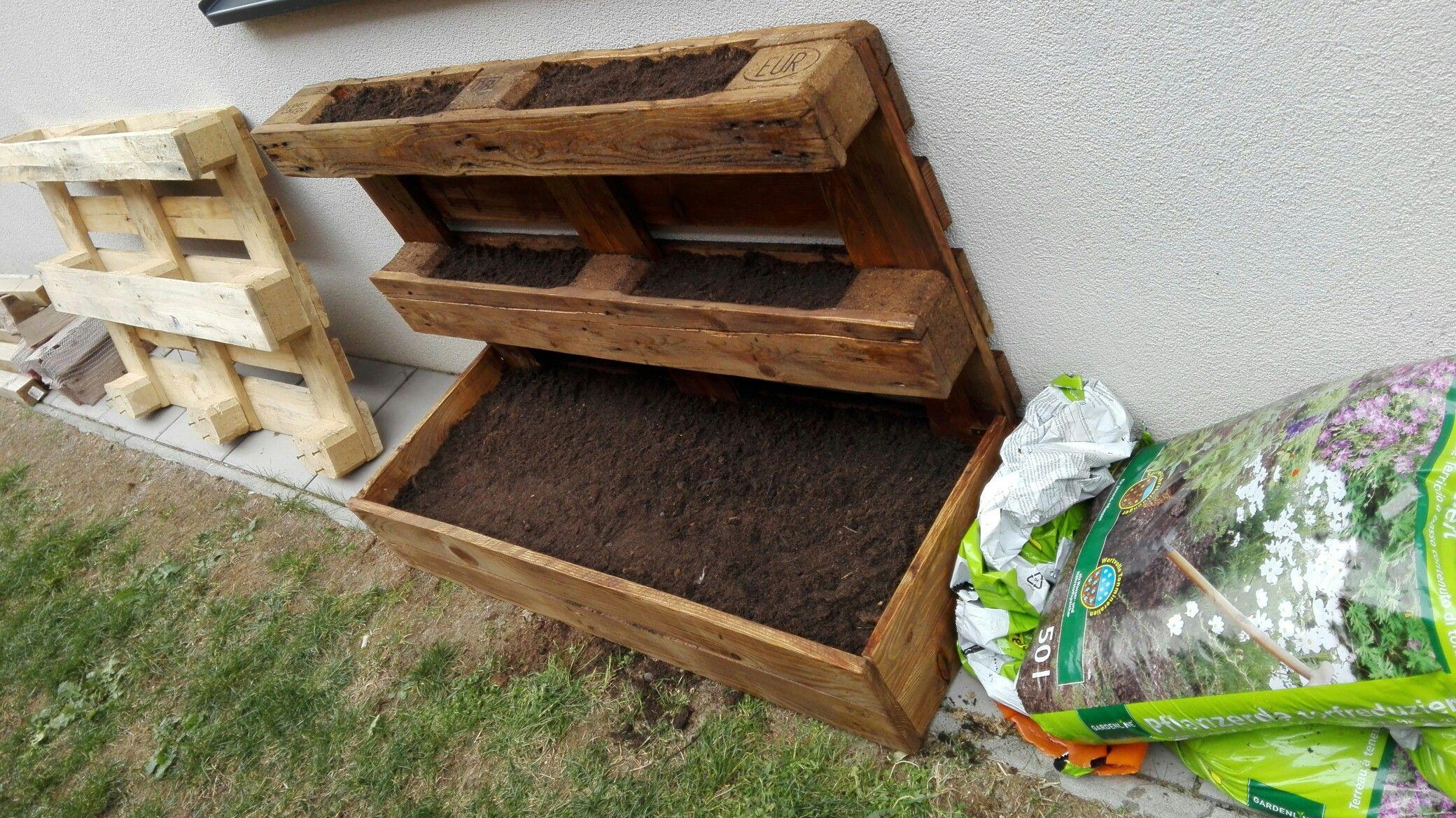 paletten, garten, beet, euro-paletten, garden   paletten   pinterest