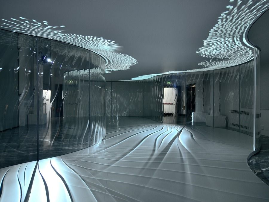 *리큐르 글래스 설치물 [ Ross Lovegrove for Lasvit ] LiquidKristal Pavilion :: 5osA: [오사]