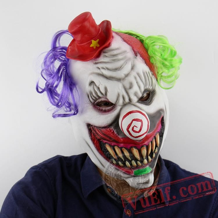 Horror Red Hat Clown Halloween Masks | Masks | Pinterest ...