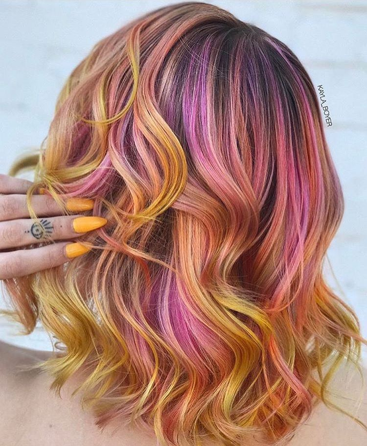 Multi Colored Hair Ideas Unique Toned Red Color Of