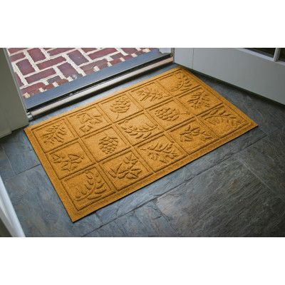 Bungalow Flooring Aqua Shield Nature Walk Doormat Rug Size 2 X 3 Color Yellow