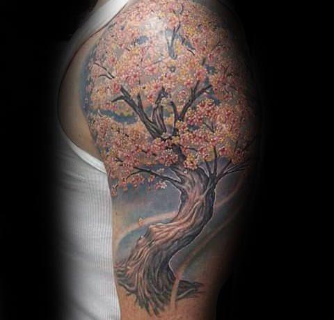 Top 101 Cherry Blossom Tattoo Ideas 2020 Inspiration Guide Cherry Tree Tattoos Tree Tattoo Men Blossom Tree Tattoo