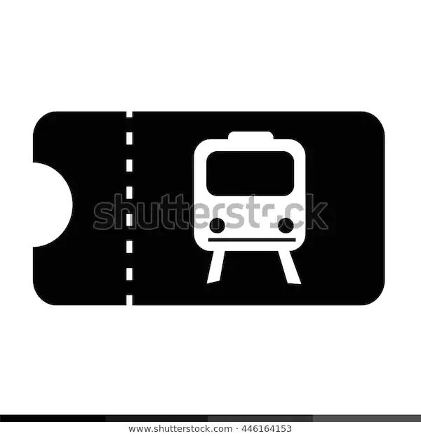 Train Ticket Icon Illustration Design Stock Vector Royalty Free 446164153 Icon Illustration Illustration Design Illustration