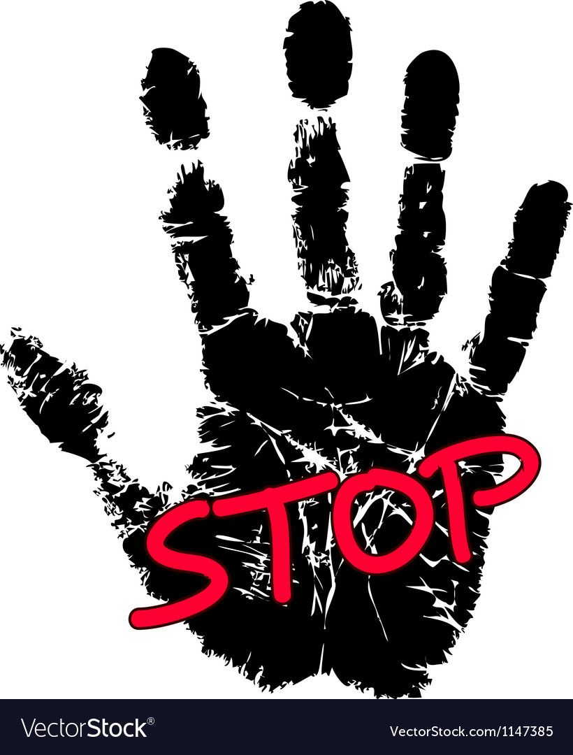 Hand Print With Stop Sign Download A Free Preview Or High Quality Adobe Illustrator Ai Eps Pdf And High Resolut Stop Sign Vector Images Graphic Design Print