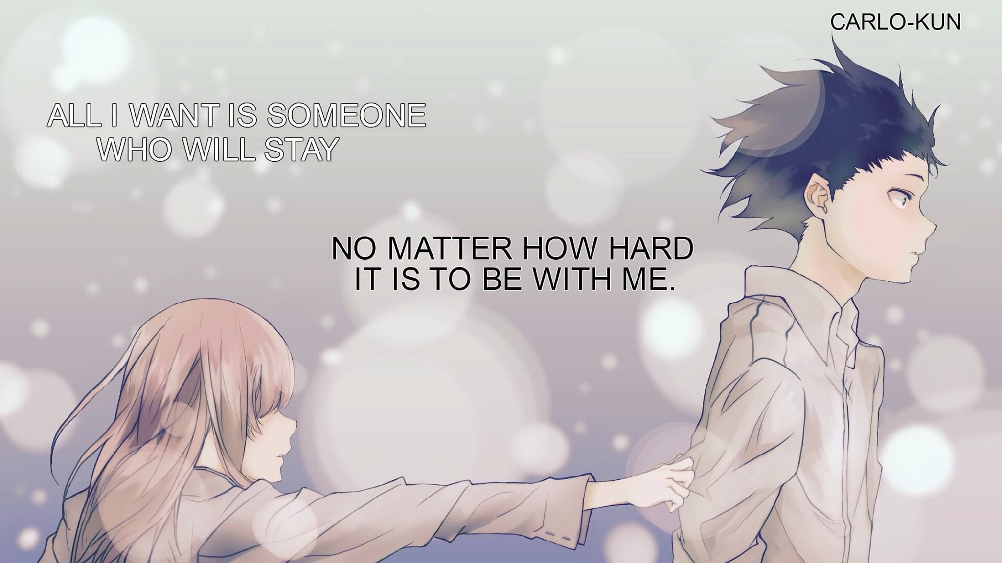 AnimeKoe no katachi Anime quotes, Anime music, Anime