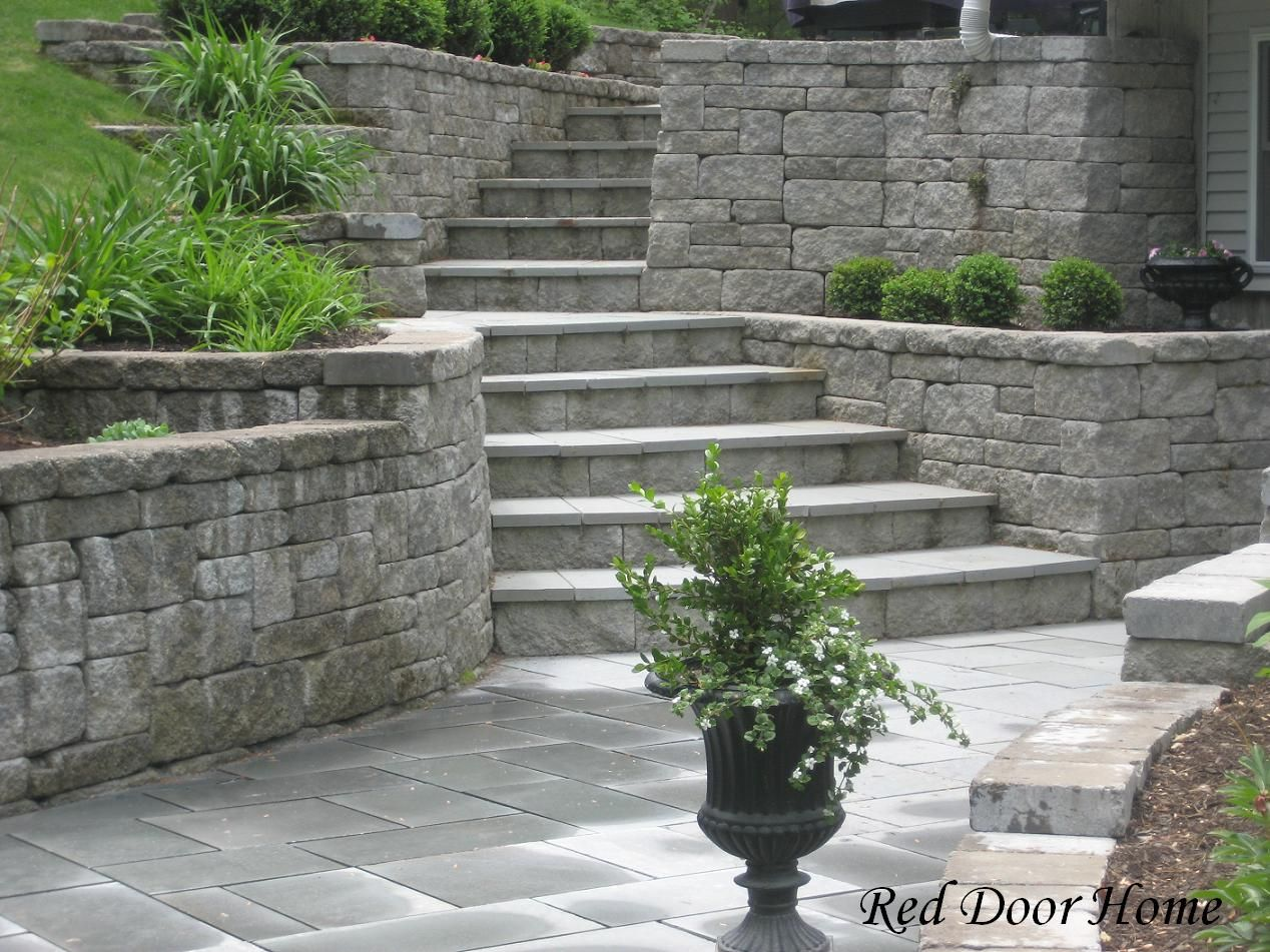Landscaping Ideas Backyard Walkout Basement | Sloped Yards & Stone ...