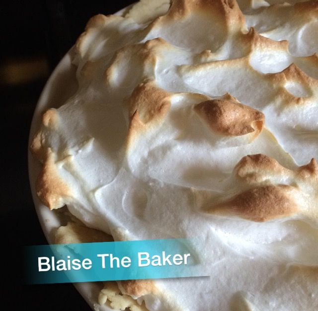 """Delicious """"Butterscotch Pie with Meringue"""" is now on Blaise the Baker! Check it out here..."""