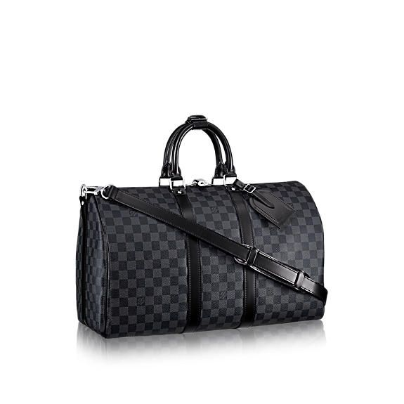 fd1e6b6f9cd9 ... canvas and leather luggage and men travel accessories. LOUISVUITTON.COM  - Louis Vuitton Keepall 45 with Shoulder Strap (LG) DAMIER GRAPHITE Travel
