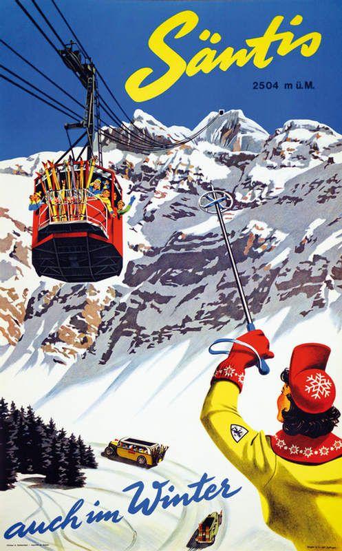 Switzerland Santis Appenzell Vintage Travel Winter
