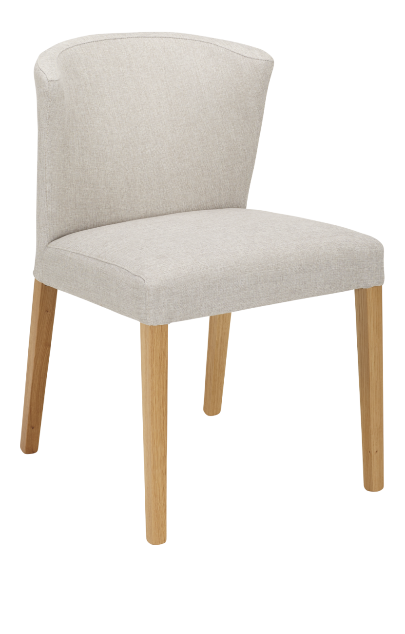 Valentina chaises de salle manger gris souris tissu bois for Chaise de salle a manger bois