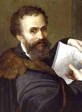 Michel-Ange (Michelangelo Buonarroti Simoni) sculpteur, peintre architecte et poète florentin ...