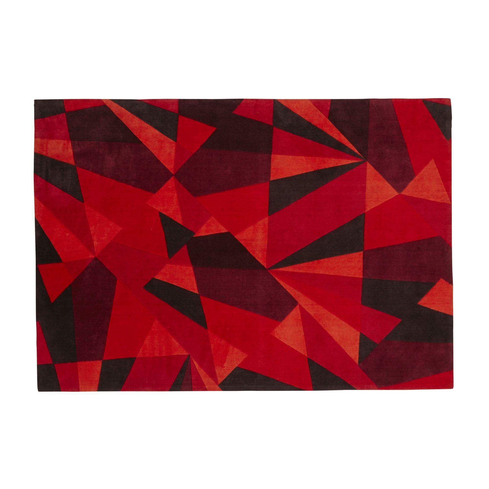 Tapis Rouge Toucher Velours 160x230cm Rouge Stendhal Les Tapis