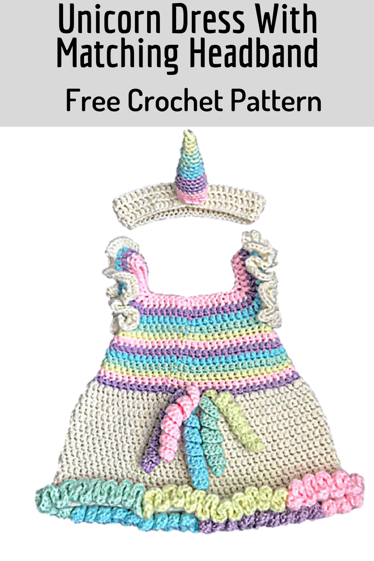Magical Unicorn Dress With Matching Headband- Free Crochet Patterns ...
