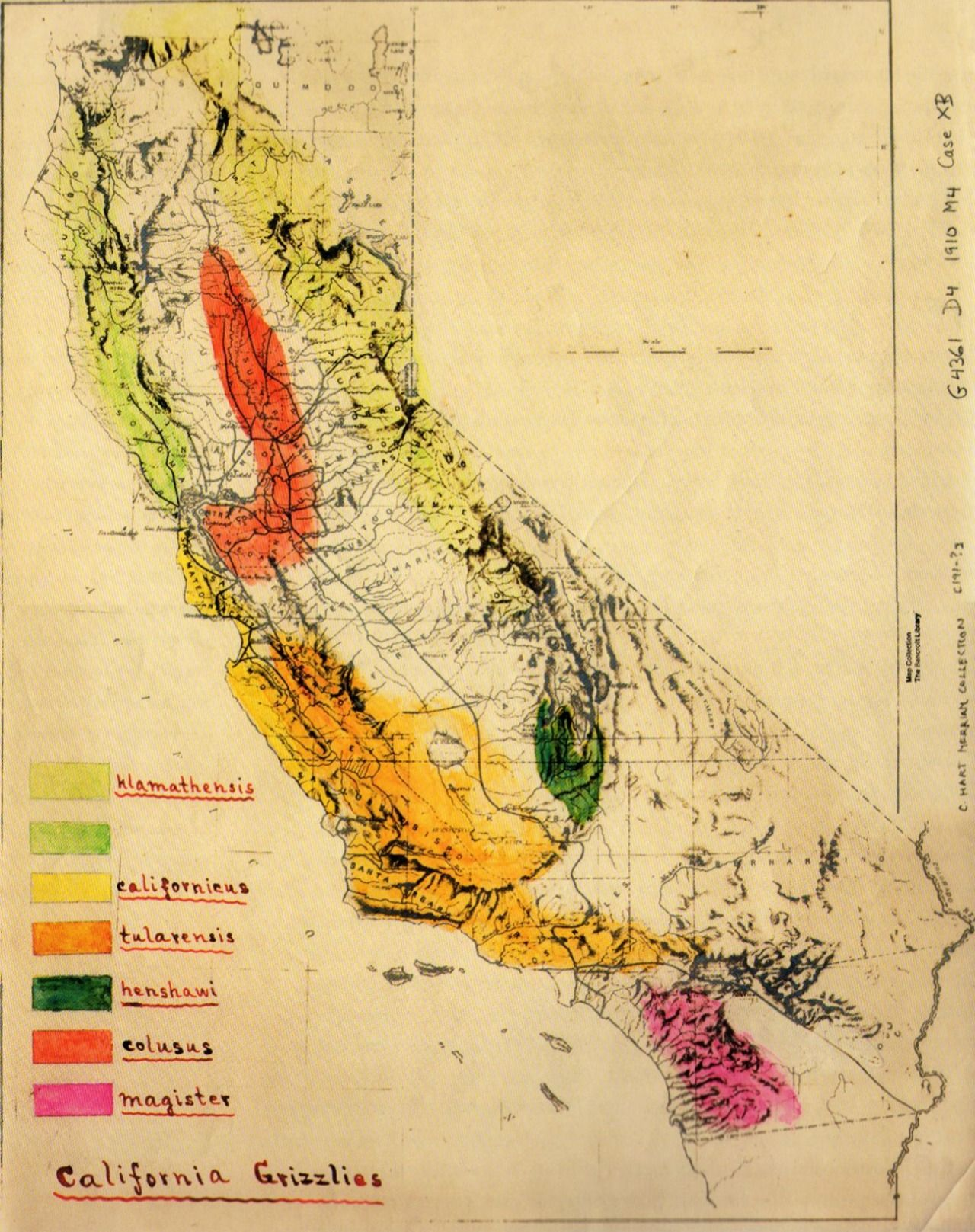 Bears In California Map Grizzly Bear in California Map (With images) | California map, Map