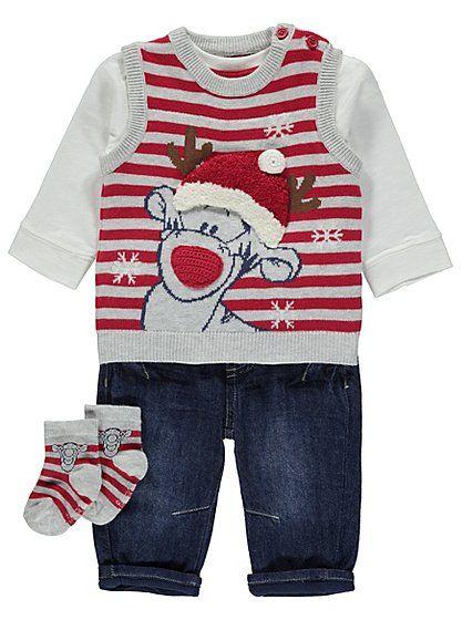 fe2220f45c8b Disney Tigger 4 Piece Christmas Outfit