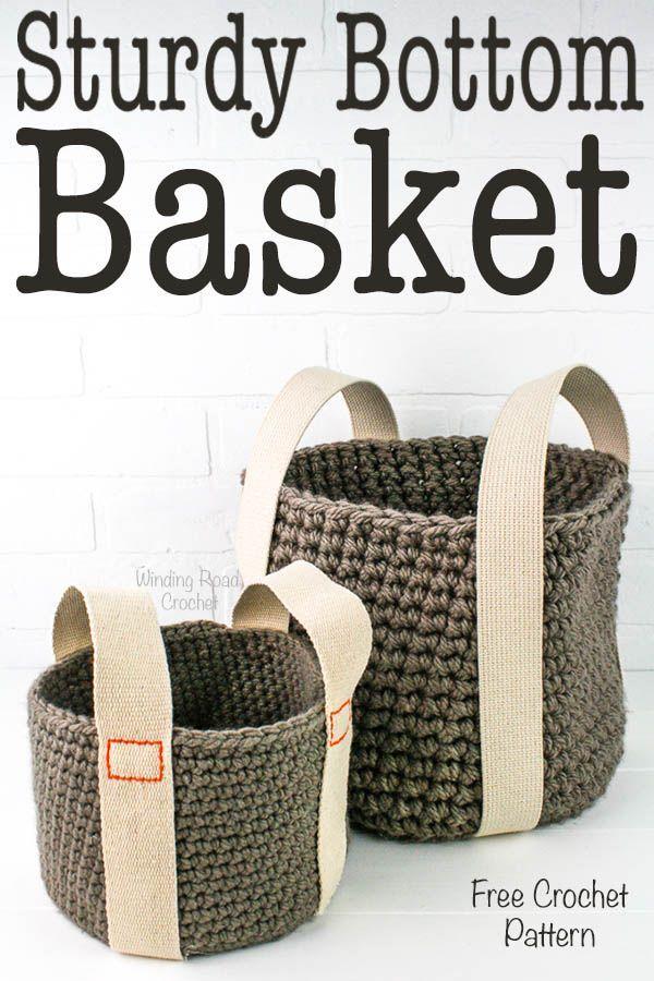 Sturdy Bottom Basket Free Crochet Pattern   bolsos crochet ...