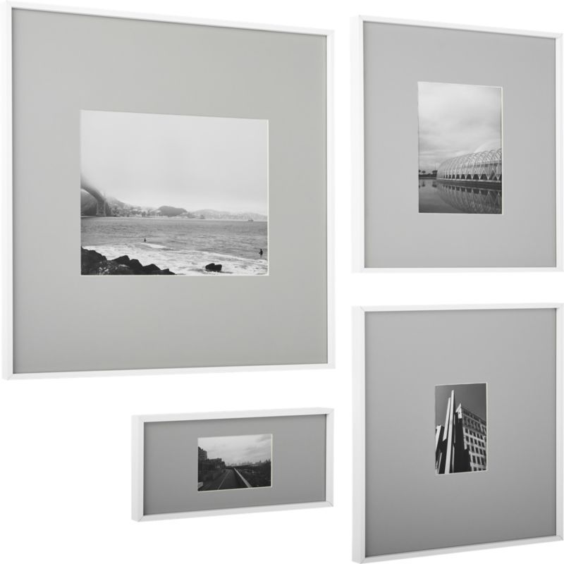Gallery White 11x14 Picture Frame With Grey Mat White Picture Frames Picture Frames Frames On Wall