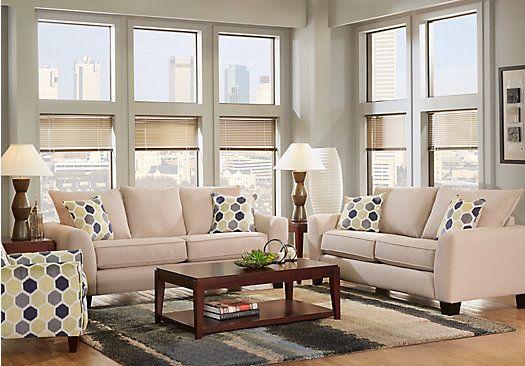 Bonita Springs Beige 7 Pc Living Room Interior