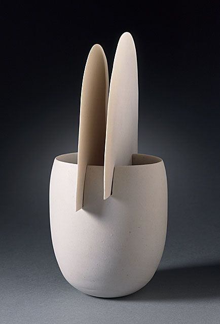 Ruth Duckworth  Cup, 1994  Ceramic, Porcelain, 4 1/2 x 4 x 3 1/2 in. (11.43 x 10.16 x 8.89 cm)  Smits Ceramics Purchase Fund (AC1995.167.2.3)  LACMA Decorative Arts and Design Department. Ruth Duckworth was a modernist sculptor who specialized in ceramics. Her sculptures, as well as wall sculptures and monumental works, are mostly untitled.