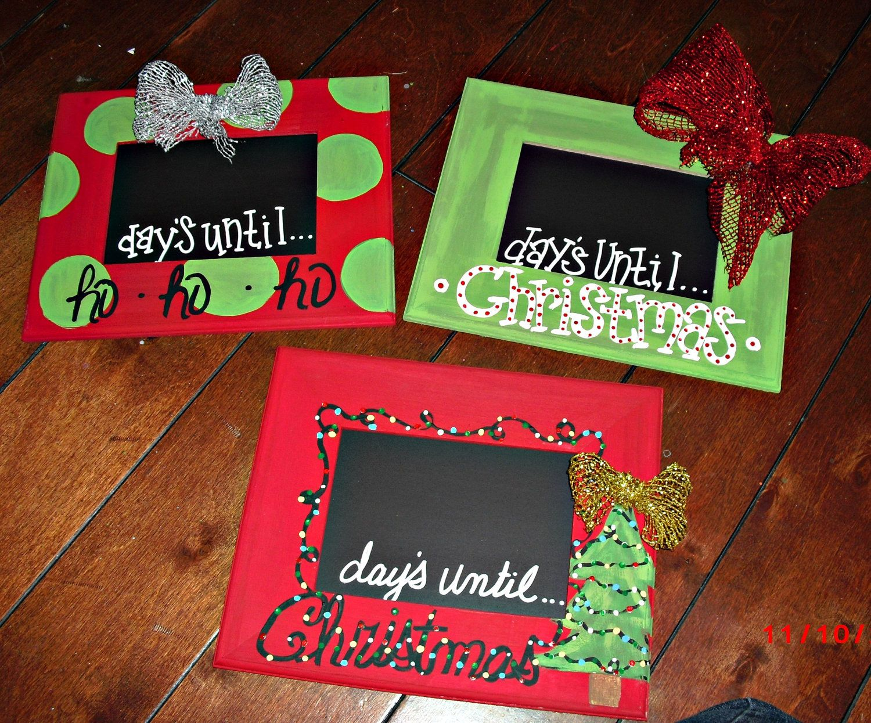 chalkboard christmas countdown picture frame 5x7 insert 1800 via etsy wwwfacebookcomwaywardwhimsy