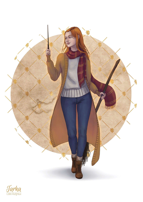 Impression Ginny Weasley Etsy Ginny Weasley Dessin Harry Potter Harry Potter Fan Art