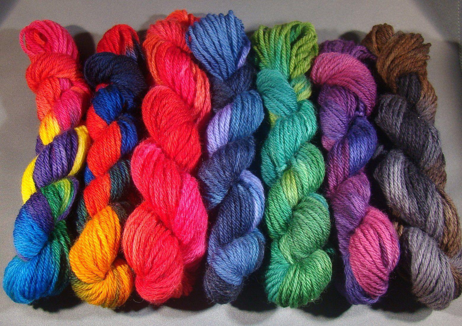 Full Of Color Yarn Addict Hand Dyed Yarn Yarn