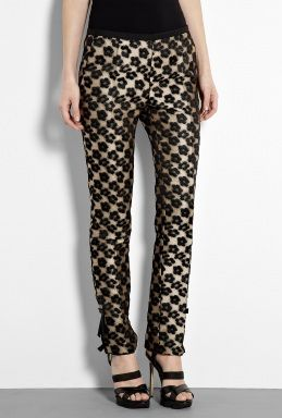 Leopard Taffeta Trousers by Red Valentino