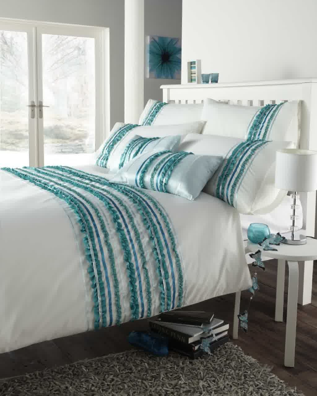 Sketch Of Turquoise And White Bedding Set Product Selections White Bed Set White Bedding Modern Duvet Covers Teal and white bedding sets