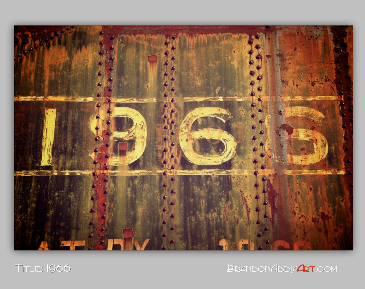 Urban Decay, 1966   Number Photo  Industrial Decor. Love This! Need To  Bring My Sheet Of Metal Home.