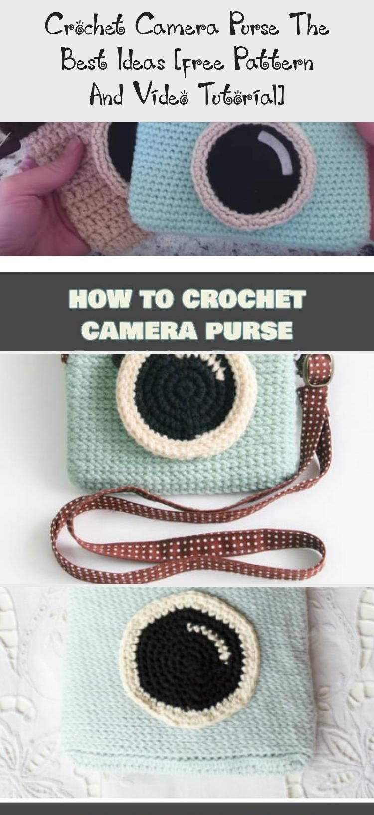Crochet Camera Purse The Best Ideas [free Pattern And Video Tutorial] #crochetcamera