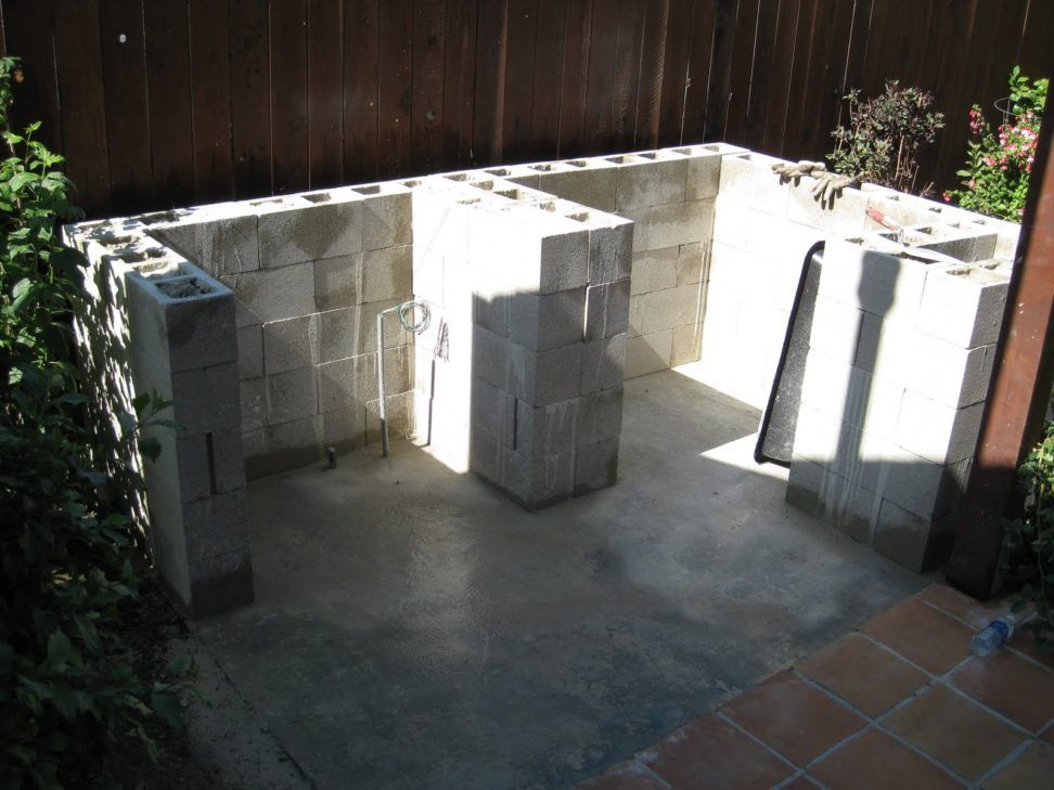 Cinder Block Outdoor Kitchens Outdoor Kitchen Made With