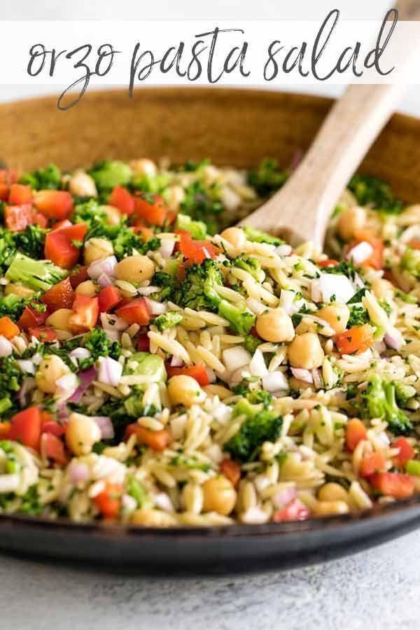 Salade de pâtes Orzo - Idées de recettes - # Idées #Salade de nouilles #Orzo #Rezepte - bellpepper.pntren ...