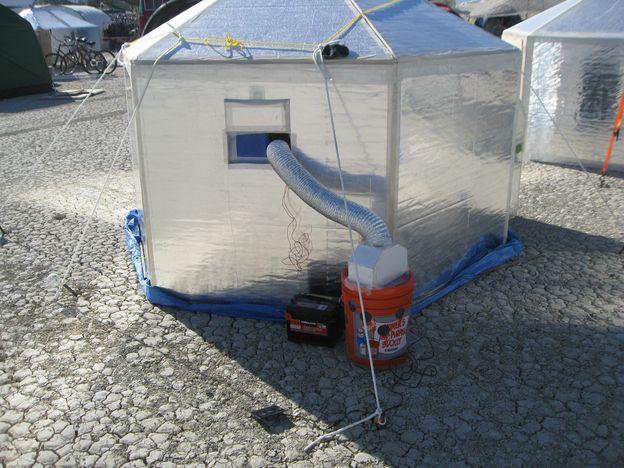 D I Y Inspired Evaporative Cooler Design For Remote Military Applications Mueller Design Lab Cooler Designs Evaporative Cooler Swamp Cooler