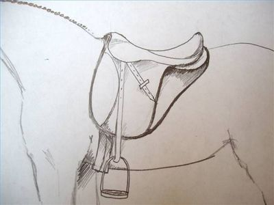 How to draw a saddle on a horse saddles horse and drawings how to draw a saddle on a horse ccuart Image collections