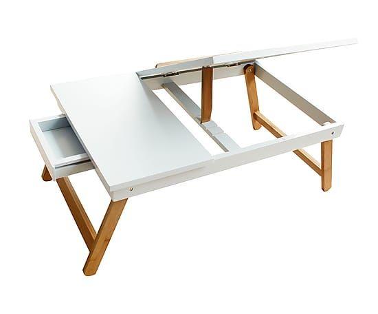 b599712be Escritorio pequeño desmontable en madera DM y bambú - blanco ...