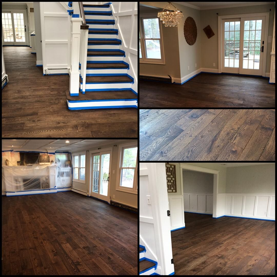 Hardwood flooring experts on instagram jacobean stain completed