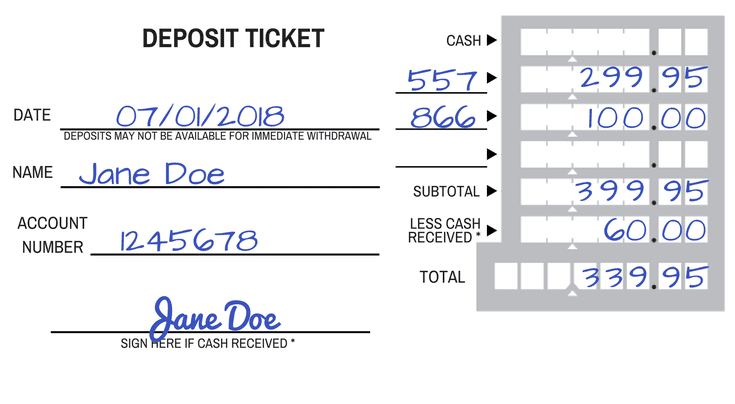 See How To Fill Out A Deposit Slip For In Branch Deposits Small Business Start Up Best Tax Software Class Schedule Template