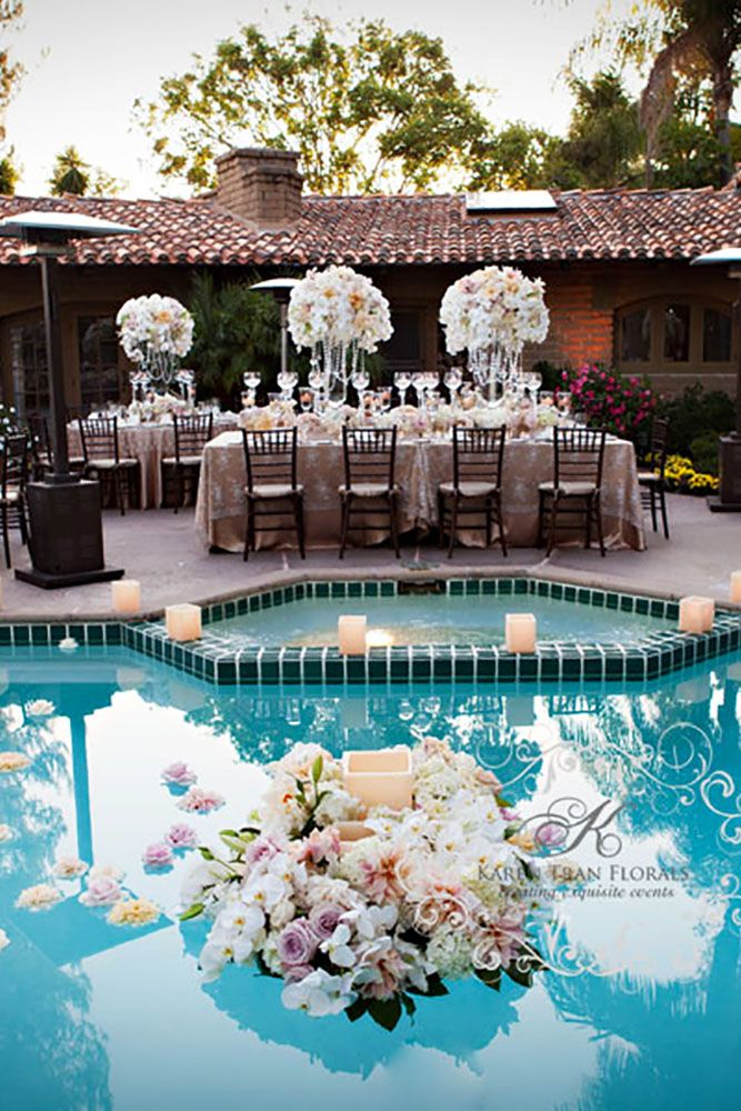 21 Wedding Pool Party Decoration Ideas For Your Backyard Wedding Pool Wedding Wedding Pool Party Decorations Wedding Pool Party