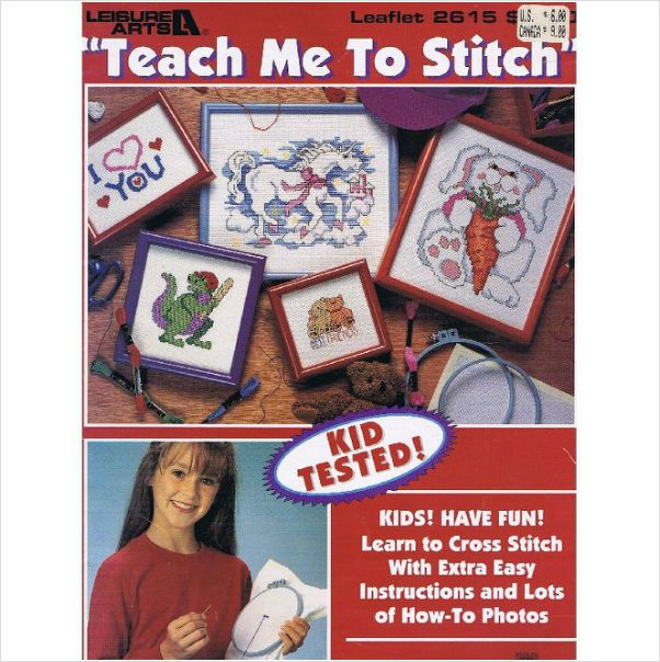 Cross Stitch Teach Me To Stitch Leaflet 2615 Kid Tested