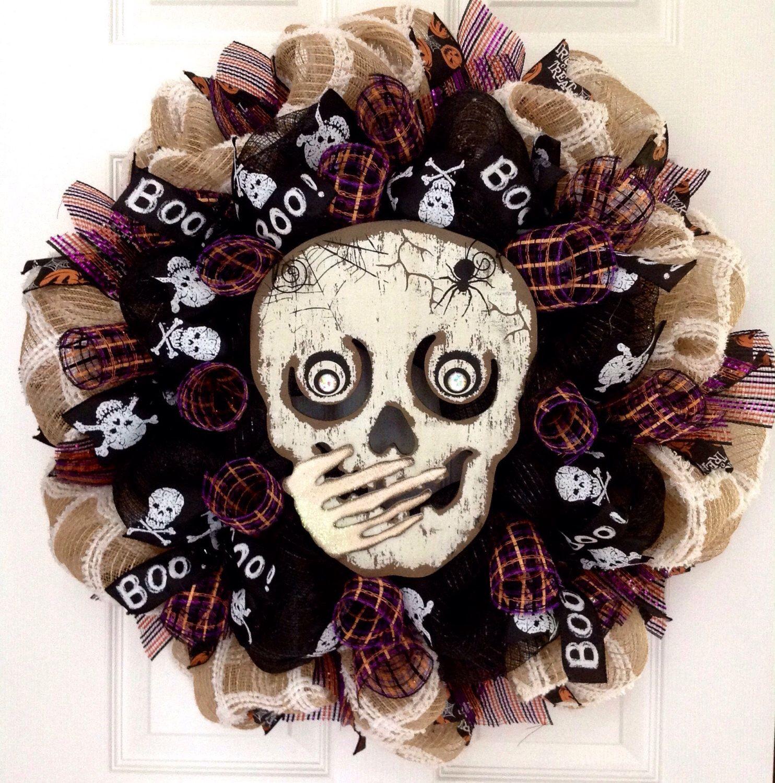 A Personal Favorite From My Etsy Shop Httpswwwetsycomlisting464378028Whispering Skull Handmade Halloween Deco