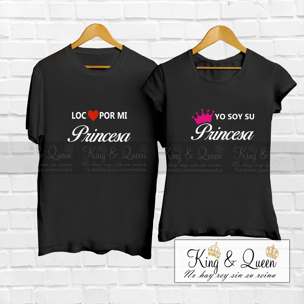 mejores zapatillas de deporte venta online originales Camisetas LOCO POR MI Princesa YO SOY SU Princesa 20213 ...