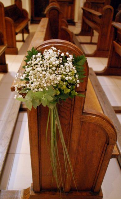 como hacer adornos bancos iglesia boda - Buscar con Google
